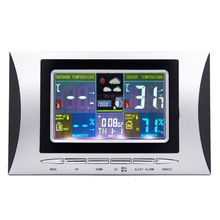 Wholesale prices Wireless Weather Station Digital Color Lcd Thermometer Forecaster Clock Indoor Outdoor Humidity Meter With Remote Sensor 50% OFF