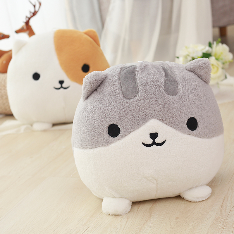 1pc 30cm Kawaii Big Face Cat Plush Toy Staffed Cartoon Soft Animal Toys Fat Cat Doll Birthday Christmas Gift for Children Kids