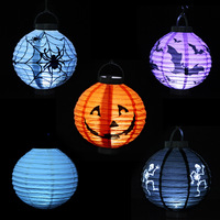 B262 Halloween Decoration Pumpkin Light Hanging Paper Lantern Lamp Outdoor Party Supplies