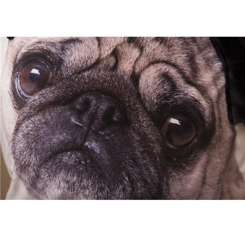 b552f4673930d 3D carlins housse de coussin avec oreilles carlin chien grand visage motif  imprimé décor à la maison jeter taies d oreiller Almofadas décor housses de  ...