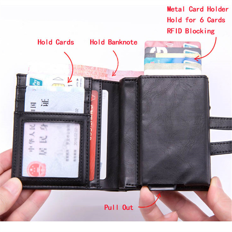 ZOVYVOL Smart Wallet Credit Card Holder 2019 Men Women Multifunctional Metal RFID Aluminium Box Blocking Travel Card Wallet in Wallets from Luggage Bags