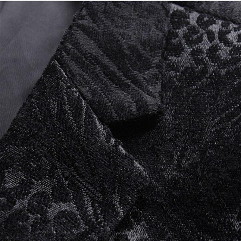 Olid negro chaqueta estampada de hombre de moda de hombre ropa fiesta etapa trajes para los cantantes Slim Fit abrigo blazer de hombre M 4XL - 5