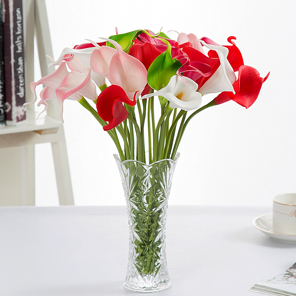 Online get cheap lily flower bouquet wedding aliexpress 10pcslot mini calla lily real touch pu artificial flower bouquets home wedding decorative flowers dhlflorist Choice Image