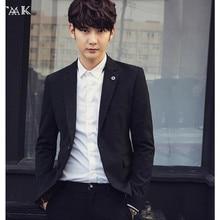 Autumn latest men's suit jacket English youth fashion leisure small business suit coat blazer formal job interview