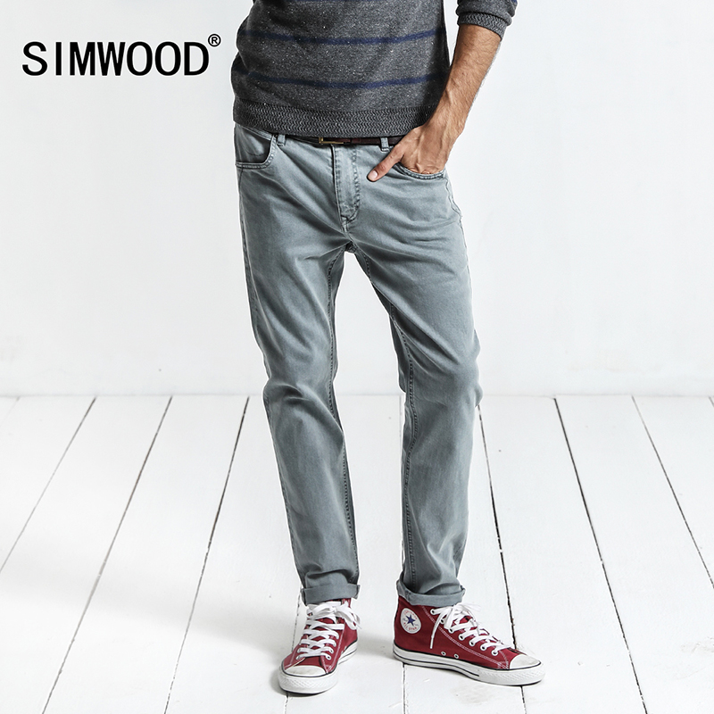 SIMWOOD 2019 Brand Clothing Men's   Jeans   Spring Winter   Jeans   High Quality Fashion Casual Denim Trousers NC017041