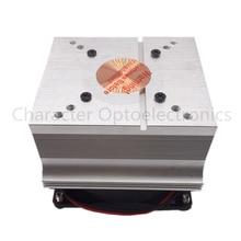 2PCS  Free delivery aluminum heat sink cooling fan 20W 50W 100W high power LED lamp 80degree 44mm lens + reflective + bracket