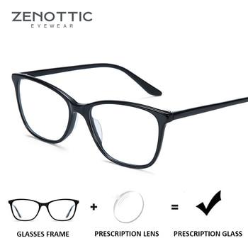 70fe64ea5d Gafas de prescripción ZENOTTIC anti-rayos azules lentes transparentes para  mujer gafas de miopía ópticas fotocrómicas de hiperopía gafas 2019