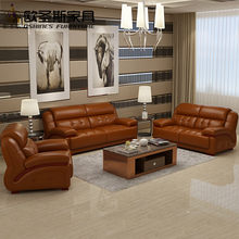 2017 new design italy Modern leather sofa ,soft comfortable livingroom genuine leather sofa ,real leather sofa set 321 seat 661A(China)