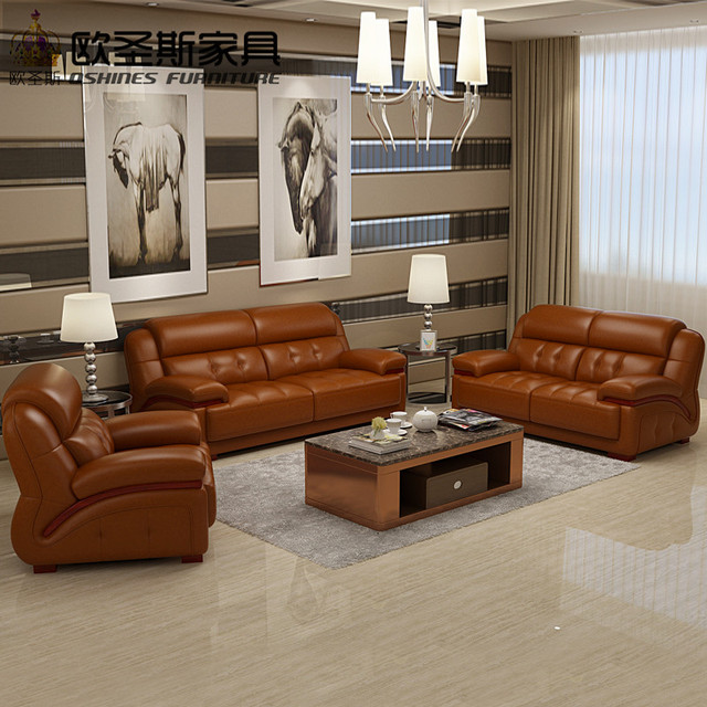 comfortable living room. 2017 new design italy Modern leather sofa  soft comfortable livingroom genuine real