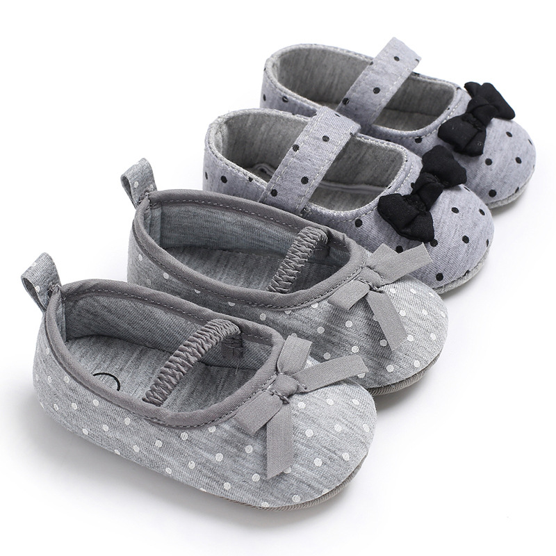 0-18 Months Cute Dot Toddler Newborn infant Girl princess Bowknot Strappy Baby Shoes Kid Crib First Walkers Baby Moccasins Shoes