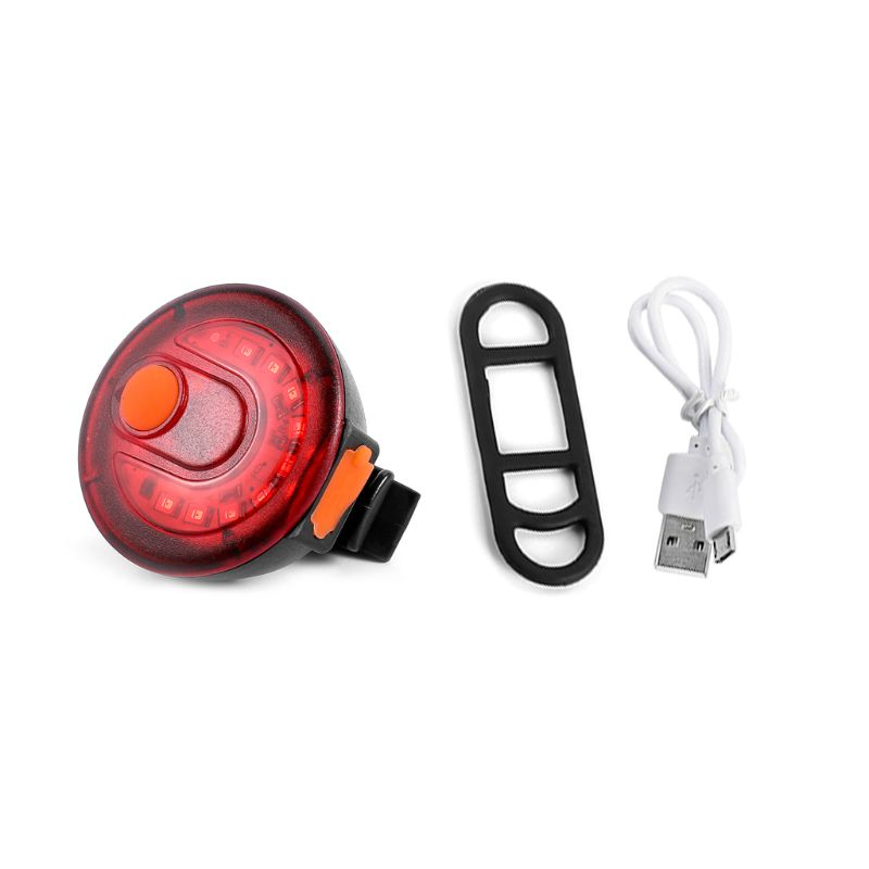 QILEJVS 9 LED Bicycle Taillight MTB USB Charging Tail Lamp Bike Cycling Warning Light  Taillights