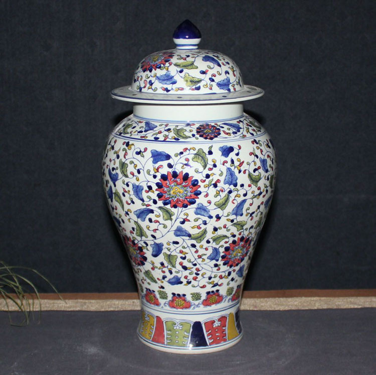 China Furniture And Arts Blue White Porcelain Ginger Jar Decorative Objects Figurines