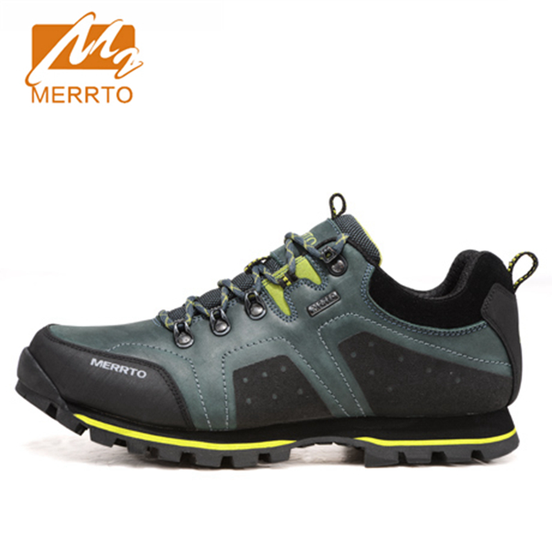 2017 Merrto Men Walking Shoes M2-TEC Waterproof Breathable Outdoor Sport Shoes Full-grain leather For Male Free Shipping MT18515