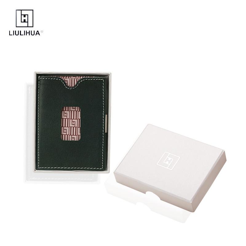 Portefeuille magique fait main en cuir véritable LLH portefeuille Compact Mini portefeuilles pour hommes porte-cartes de petite taille classique porte-monnaie court