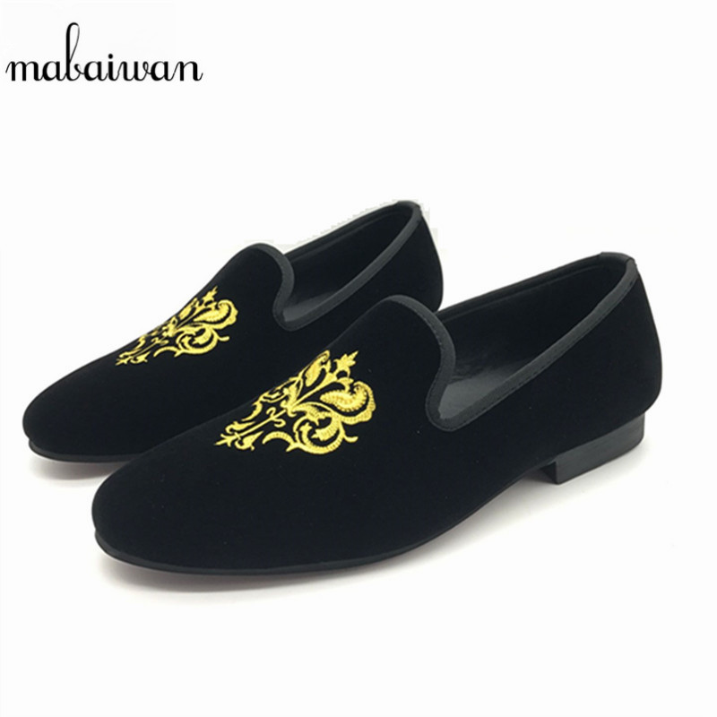 Mabaiwan Handsome Men Velvet Flats Mens Smoking Slippers Casual Loafers Black Wedding Dress Shoes Espadrilles Creepers Mocassin 2017 handsome smoking slipper in black silk with a refined velvet band detail party and wedding men loafers male dress shoes