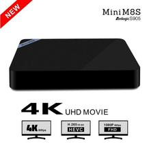 Mini M8S/Mini M8S II Android 5.1 TV Box Amlogic S905 2 GB 8 GB Quad-core 2.4 GHz WiFi Bluetooth 4.0 Media Player Set Top caja