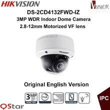 Hikvision Original English Version DS-2CD4132FWD-IZ 3MP WDR Indoor Dome Camera Motorized Smart Audio Detection CCTV Camera