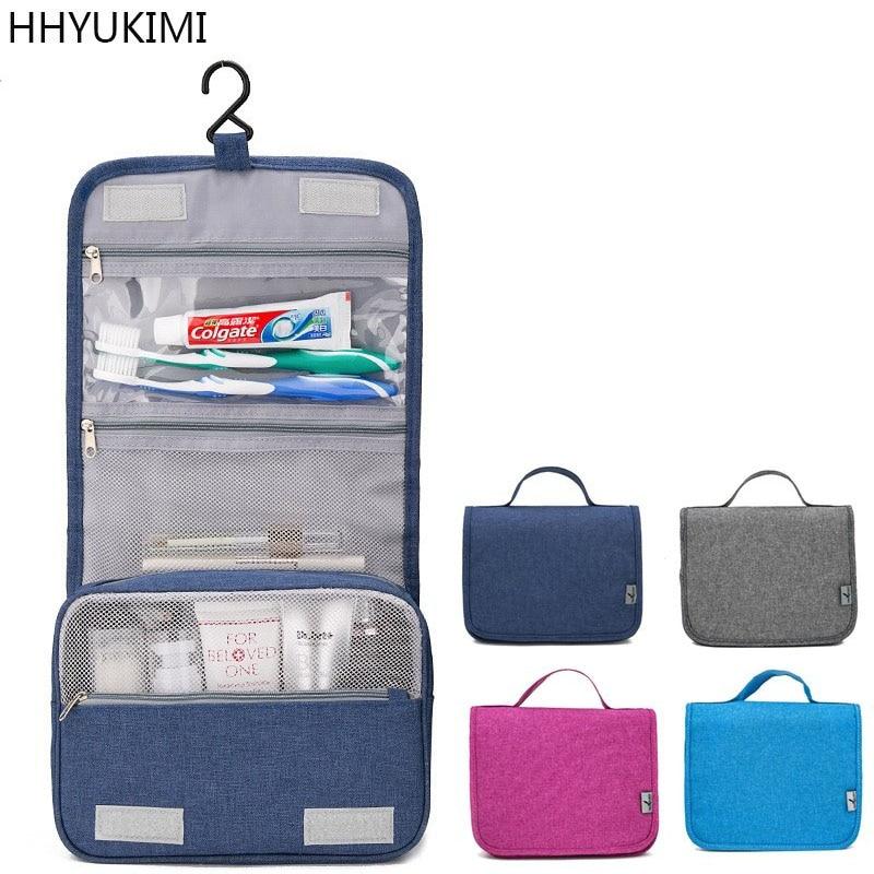 HHYUKIMI Frosted Cloth Hanging Cosmetic Bag Washbag Beauty Makeup Bag Ms Travel Portable Cosmetic Men Bath Toiletries Organizer цена