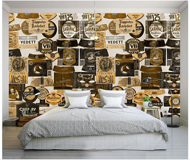 3D Wallpaper Custom For Walls 3d Wall Murals Retro Icon Background Paintings Home Decor