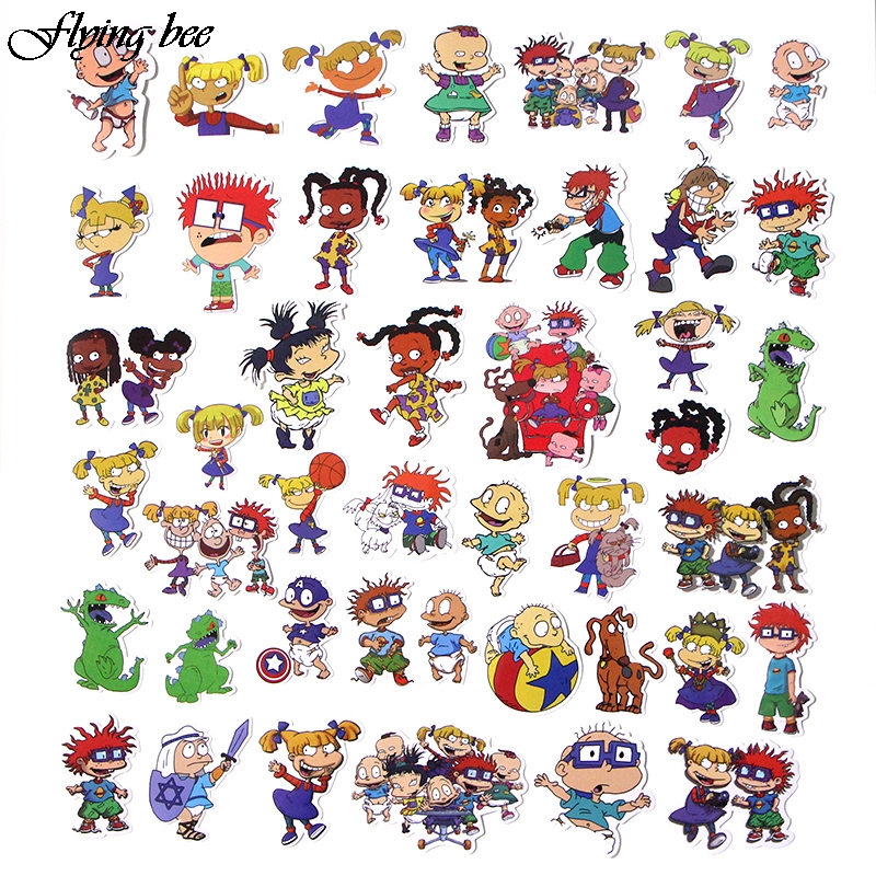 Image 3 - Flyingbee 40 Pcs Cute Anime Car Sticker Decals Waterproof Scrapbooking Stickers for DIY Luggage Laptop Skateboard Sticker X0018-in Stickers from Consumer Electronics