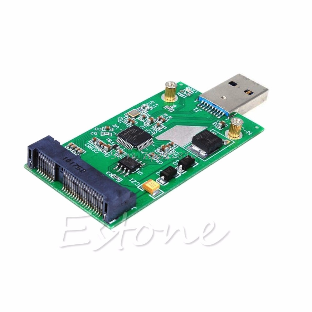 USB 3.0 To Mini PCIE MSATA SSD MSATA To USB 3.0 SSD Don't Need USB Cable NEW Whosale&Dropship