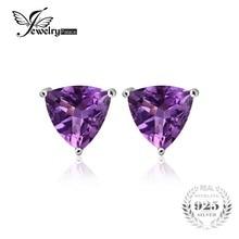 Jewelrypalace billones 1.9ct natural purple amethyst birthstone stud pendientes esterlina del sólido 925 de plata de la joyería fina para las mujeres