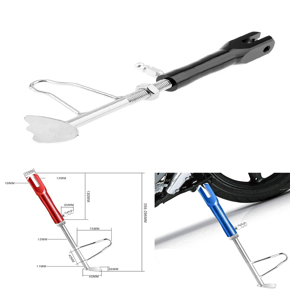 Aluminum Alloy Motorcycle Foot Kickstand Side Stand Adjustable Leg Prop From USA
