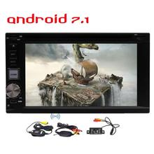 Wireless Rear Camera 2 Din Android 7.1 Car Stereo Radio GPS Navigation DVD Player Support Wifi Bluetooth OBD2 1080P Video Player
