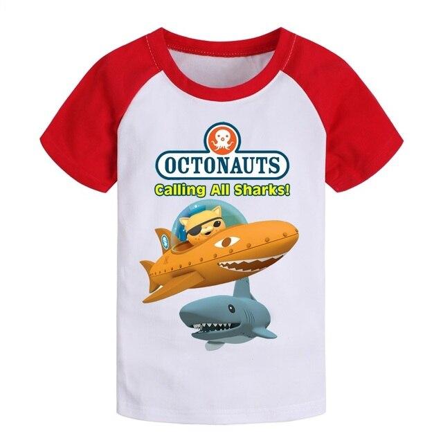 multi style Octonauts Kwazii Cotton  cartoon kids  tshirt t shirt clothing  baby children clothes summer short tee shirt T shirt