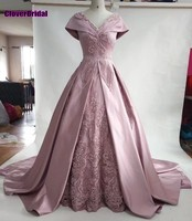 CloverBridal 2017 dusty pink beaded rectangle patterns vintage prom dresses big shoulder capes party vestido longo festa