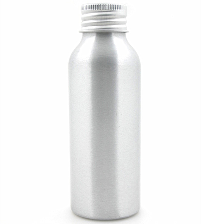 100ml Aluminum Bottles, Empty Round Sliver Metal Bottle With Lined Gold/silver Aluminum Cap
