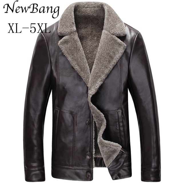 Aliexpress.com : Buy 5XL 4XL Fashion Men Winter Leather Jacket ...