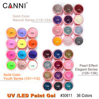 30611c CANNI Nail Art Paint Gel Supply Soak Off Bling Gel Elegant Series Led Uv