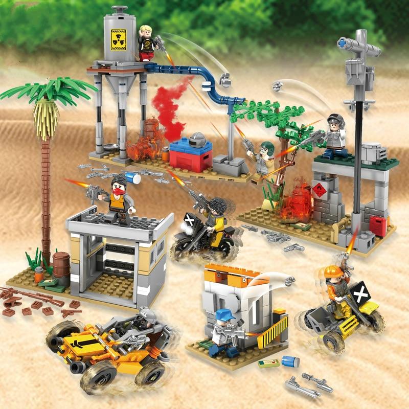 Jouer champ de bataille de BattleForge 4 en 1 manger scène de poulet ABC blocs de construction en plastique jouets pour l'éducation de la petite enfance