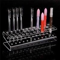 1 pc acrílico caneta lápis Stand titular maquiagem escova cosmética armazenamento organizador de alta qualidade por atacado