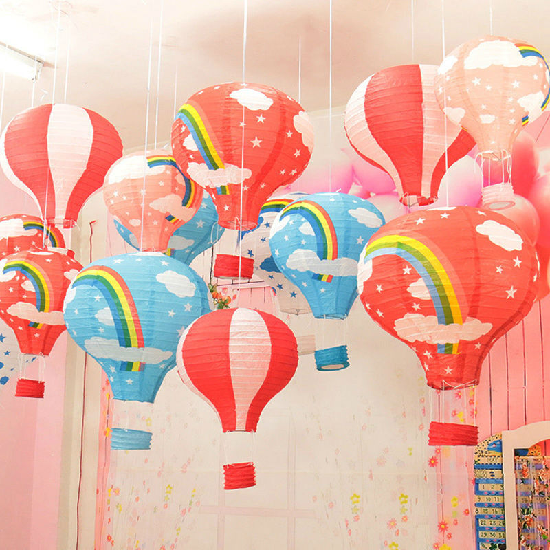 Rainbow Paper Lantern 30cm Hot Air Balloon Wedding Decoration Children S Bedroom Hanging Birthday Party Decorations Ls1523