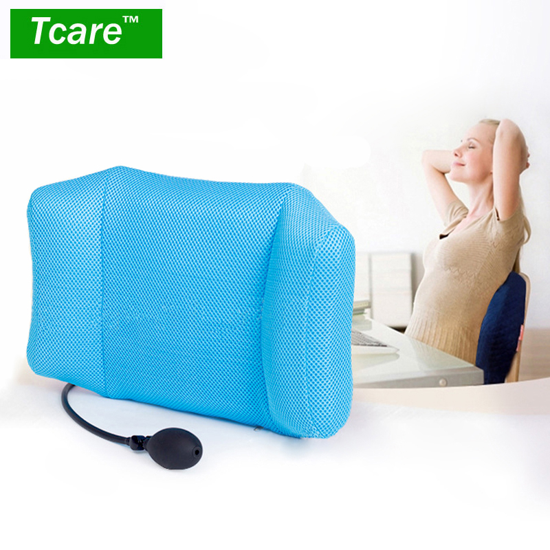 Tcare Portable Inflatable Lumbar Support Cushion Massage