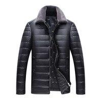 Nuovo profilo di alta qualità autunno e inverno in pelle da uomo rivestimento di affari giacca casual men's cappotto di pelliccia collare di cuoio DELL'UNITÀ di elaborazione giacca
