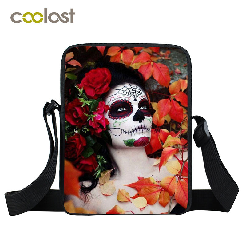 Sugar Skull Crossbody Bags for Women Punk Gothic Handbag Ladies Clutch bolsos mujer Children School Bags Cool Men Shoulder Bags make international keith brymer jones punk range sugar bowl sugar stay or sugar go