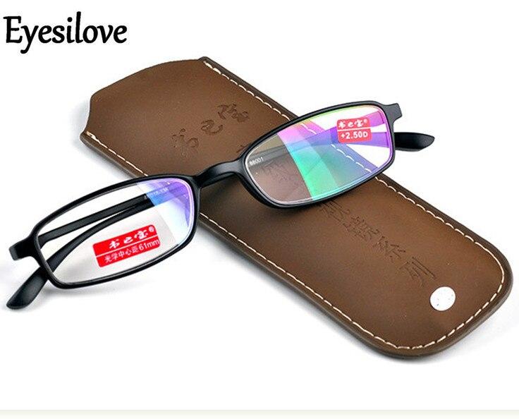 2bcf99918 Mulheres óculos de leitura homens óculos hipermetropia Eyesilove ultra luz  presbiopia óculos + 100 + 150 + 200 + 250 + 300 + 350 + 400