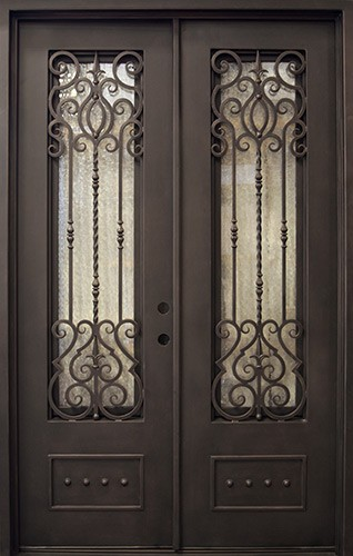 Wholesale Wrought Iron Doors Iron Double Doors Iron Doors Iron Front Doors For Sale  Hc21