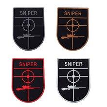 UNIFORM SNIPER Scope Crosshair SWAT Black Ops Tactical Morale 3D PVC PATCHES Badge AIRSOFT COMBAT PAINTBALL MORALE SNIPER PATCH держатель на шлем bbb helmet для фонаря strike sniper swat scope