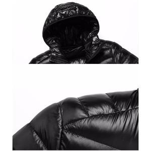 Image 5 - Doudoune légère à capuche pour hommes, couleur unie, Boutique de mode, printemps et automne, décontracté
