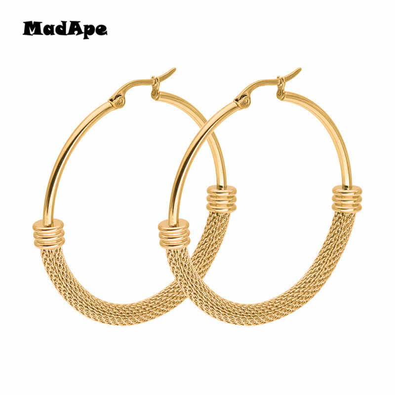 MadApe Silver/gold Color 316 Stainless Steel Jewelry Earrings Fashion Wild Female Earring Size Selection Hot Classic