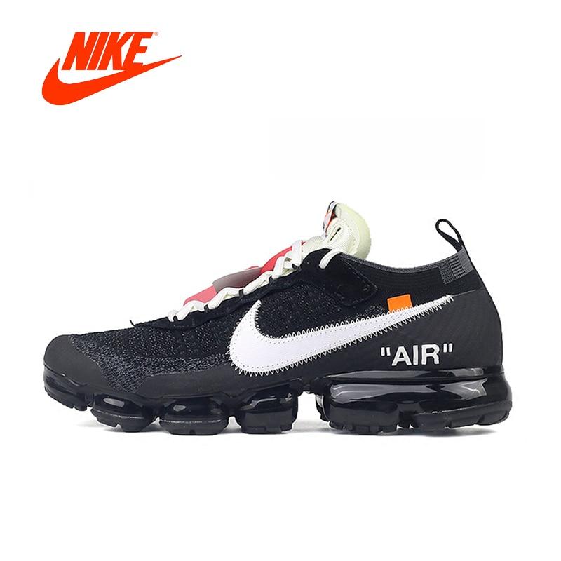 Officiel Original Limitée Nike X BLANC CASSÉ AIR VAPORMAX OFW Hommes Chaussures De Course En Plein AIR Classique Chaussures De Sport Athlétique AA3831