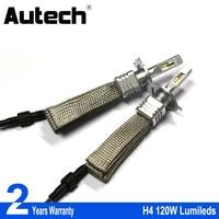 Autech 1 Pair 120W 12000lm High Bright Car Headlights H4 HB2 9003 Auto Front Bulb Automobiles