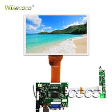 7 inch LCD Display Screen 800*480 AT070TN90 92 94 Monitor Remote Driver Board 2AV HDMI VGA For Lattepanda Raspberry Pi 3 2 7 inch lcd screen at070tn90 v 1 at070tn92 v x long cable