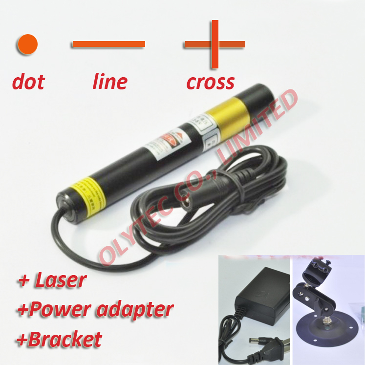 ФОТО 50mw 648nm RED Laser Module with power adapter and bracket