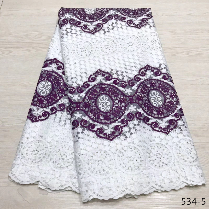 2019 New Arrival high quality african cord lace fabric chemical lace water soluble guipure lace fabric for wedding 534 in Lace from Home Garden