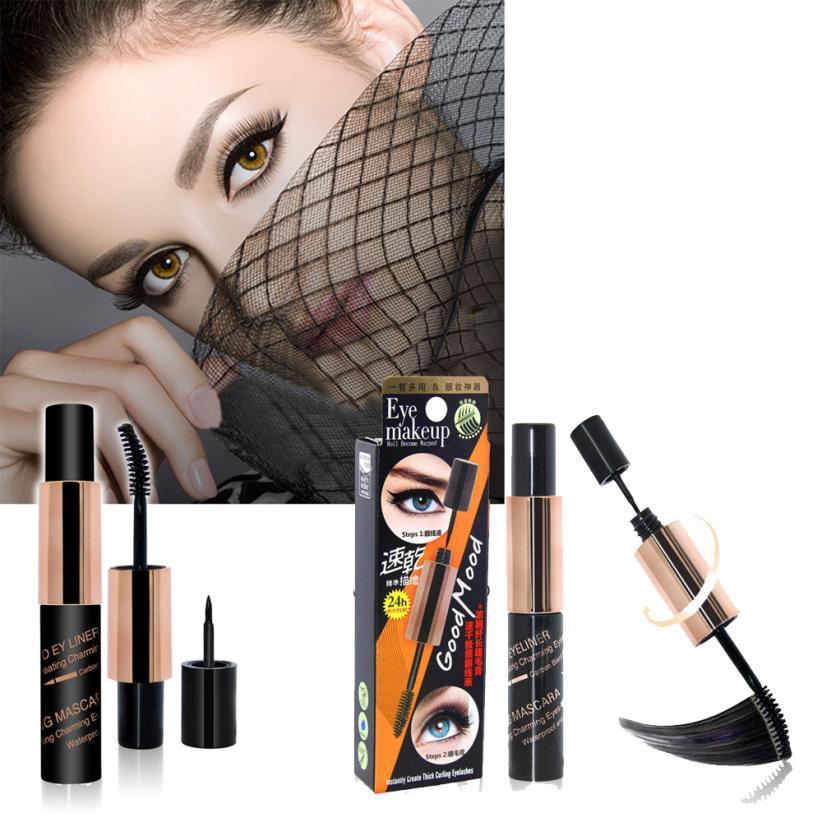 Eyeliner 2017 Professional Beauty 2 in 1 Multifunctional Double-headed Eye Makeup Eyeliner Mascara Combination drop ship 17sep12